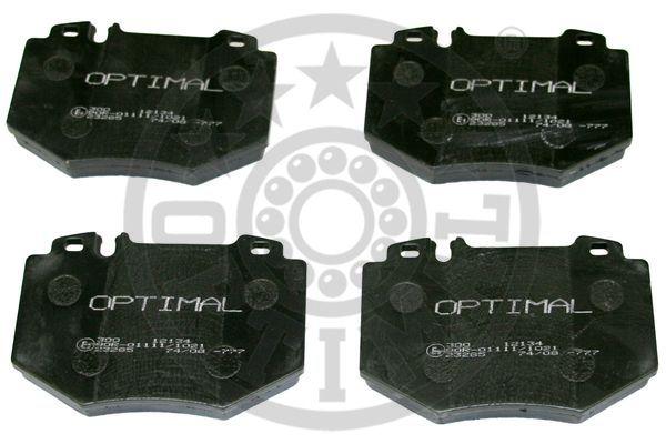 Kit de plaquettes de frein, frein à disque - OPTIMAL - 12134