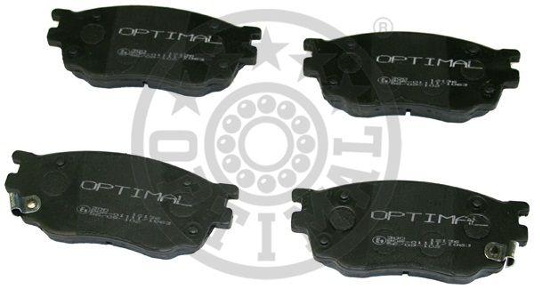 Kit de plaquettes de frein, frein à disque - OPTIMAL - 12136
