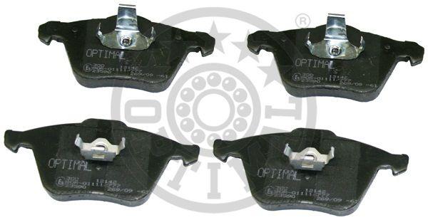 Kit de plaquettes de frein, frein à disque - OPTIMAL - 12142