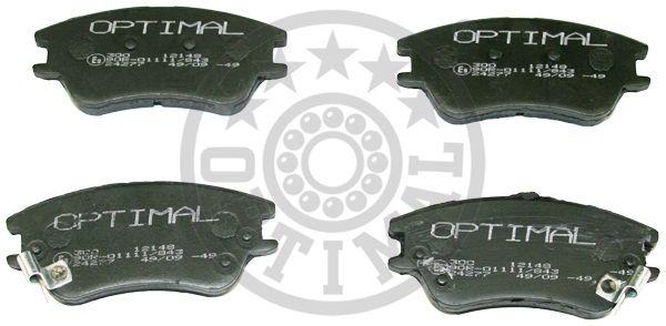 Kit de plaquettes de frein, frein à disque - OPTIMAL - 12148