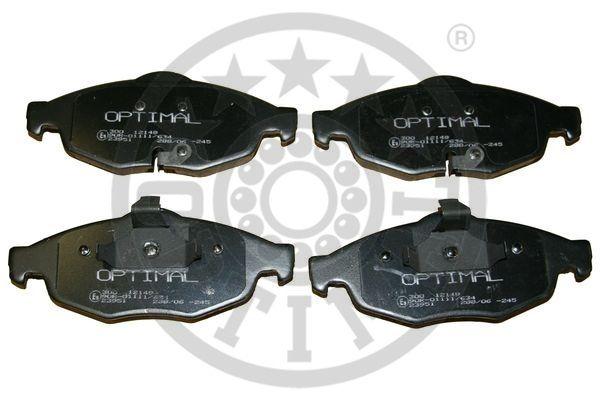 Kit de plaquettes de frein, frein à disque - OPTIMAL - 12149