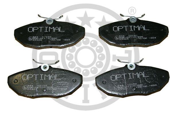 Kit de plaquettes de frein, frein à disque - OPTIMAL - 12152