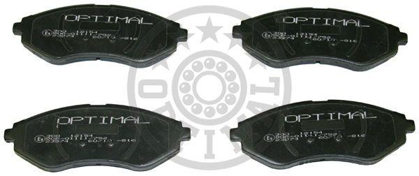 Kit de plaquettes de frein, frein à disque - OPTIMAL - 12154