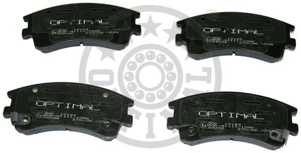 Kit de plaquettes de frein, frein à disque - OPTIMAL - 12163