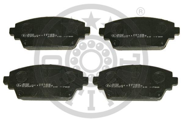 Kit de plaquettes de frein, frein à disque - OPTIMAL - 12165