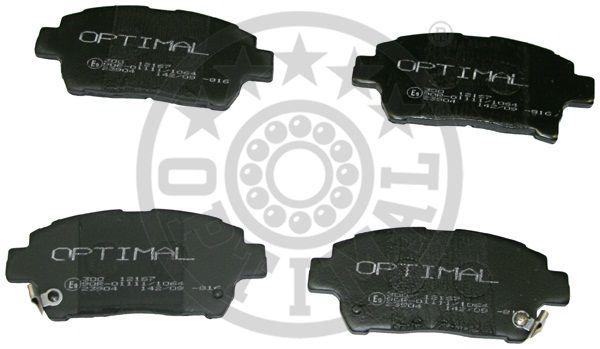Kit de plaquettes de frein, frein à disque - OPTIMAL - 12167