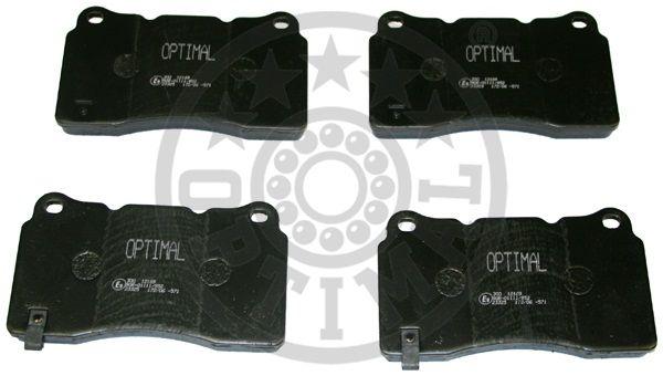 Kit de plaquettes de frein, frein à disque - OPTIMAL - 12169