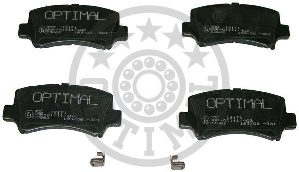Kit de plaquettes de frein, frein à disque - OPTIMAL - 12171