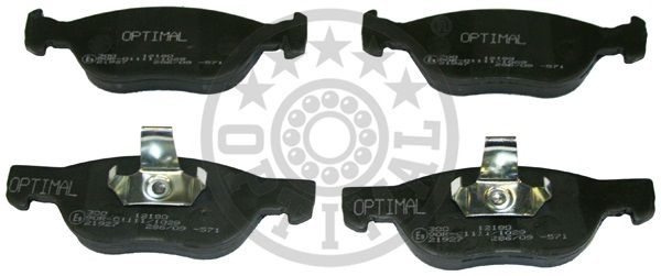 Kit de plaquettes de frein, frein à disque - OPTIMAL - 12180