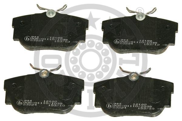 Kit de plaquettes de frein, frein à disque - OPTIMAL - 12188