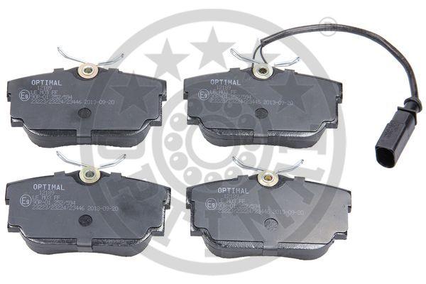 Kit de plaquettes de frein, frein à disque - OPTIMAL - 12189