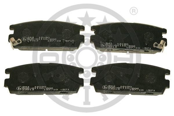 Kit de plaquettes de frein, frein à disque - OPTIMAL - 12190
