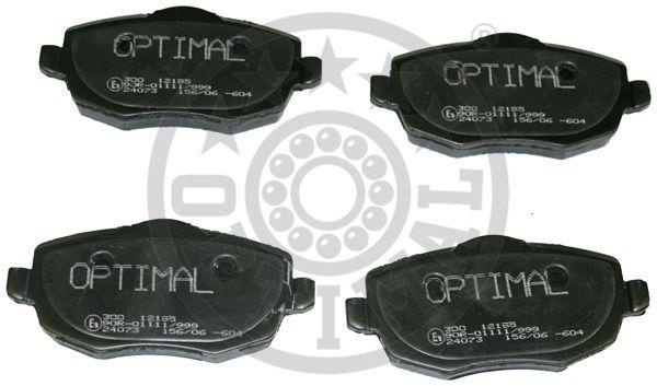 Kit de plaquettes de frein, frein à disque - OPTIMAL - 12195