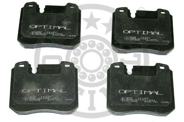 Kit de plaquettes de frein, frein à disque - OPTIMAL - 12197