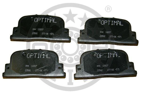 Kit de plaquettes de frein, frein à disque - OPTIMAL - 12207