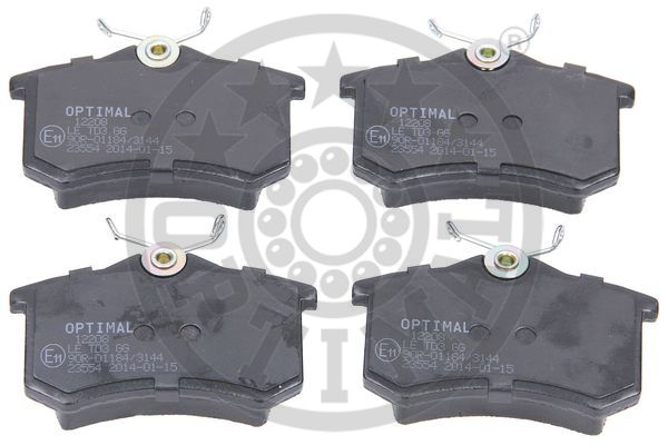 Kit de plaquettes de frein, frein à disque - OPTIMAL - 12208