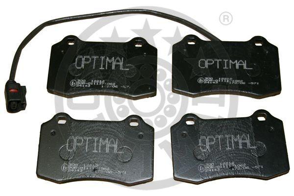 Kit de plaquettes de frein, frein à disque - OPTIMAL - 12212