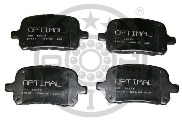 Kit de plaquettes de frein, frein à disque - OPTIMAL - 12213