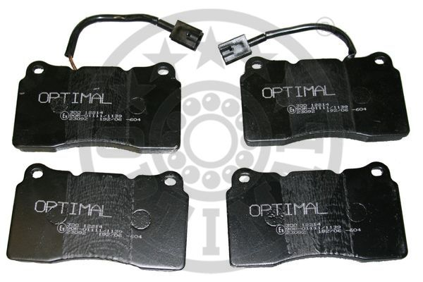 Kit de plaquettes de frein, frein à disque - OPTIMAL - 12214
