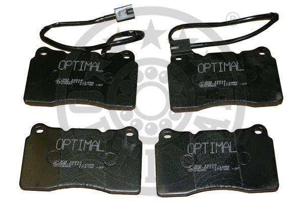 Kit de plaquettes de frein, frein à disque - OPTIMAL - 12216