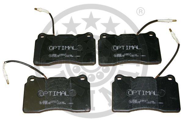 Kit de plaquettes de frein, frein à disque - OPTIMAL - 12217