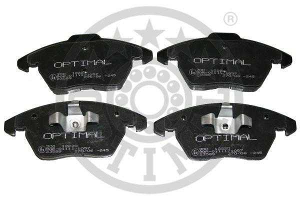 Kit de plaquettes de frein, frein à disque - OPTIMAL - 12220