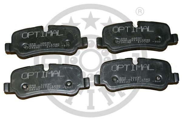 Kit de plaquettes de frein, frein à disque - OPTIMAL - 12230