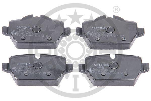 Kit de plaquettes de frein, frein à disque - OPTIMAL - 12235