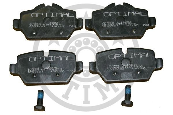 Kit de plaquettes de frein, frein à disque - OPTIMAL - 12236