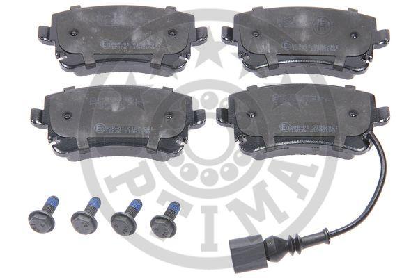 Kit de plaquettes de frein, frein à disque - OPTIMAL - 12241