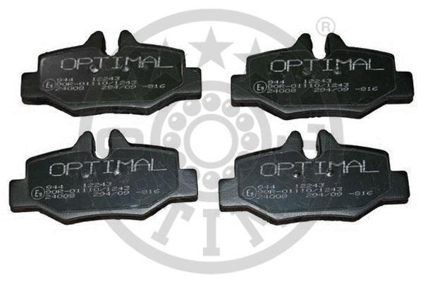 Kit de plaquettes de frein, frein à disque - OPTIMAL - 12243