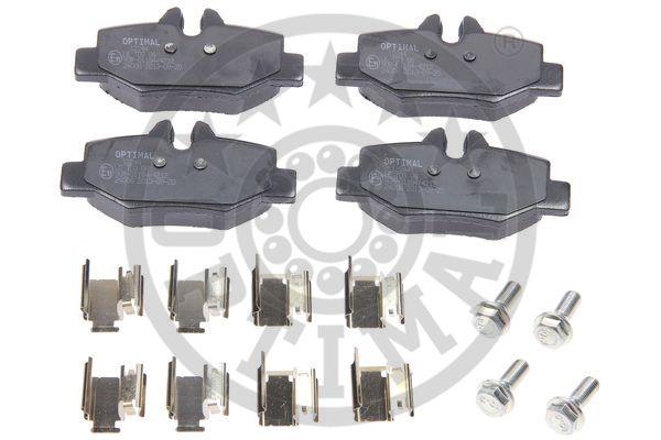 Kit de plaquettes de frein, frein à disque - OPTIMAL - 12244