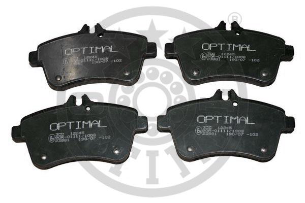 Kit de plaquettes de frein, frein à disque - OPTIMAL - 12245