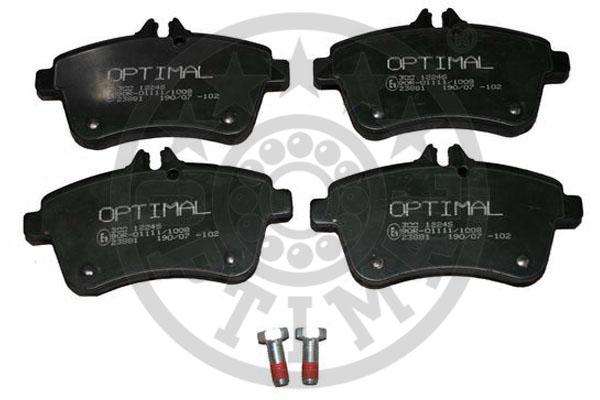 Kit de plaquettes de frein, frein à disque - OPTIMAL - 12246