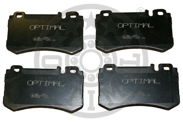 Kit de plaquettes de frein, frein à disque - OPTIMAL - 12247