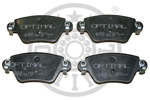 Kit de plaquettes de frein, frein à disque - OPTIMAL - 12249