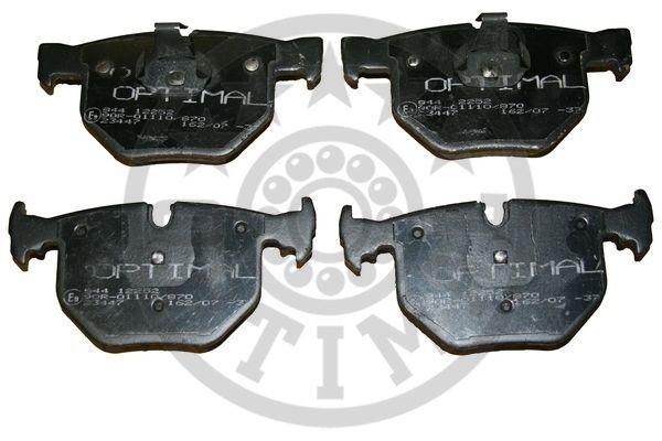 Kit de plaquettes de frein, frein à disque - OPTIMAL - 12252
