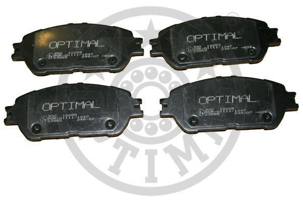 Kit de plaquettes de frein, frein à disque - OPTIMAL - 12255