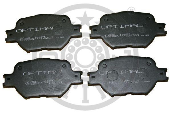Kit de plaquettes de frein, frein à disque - OPTIMAL - 12258