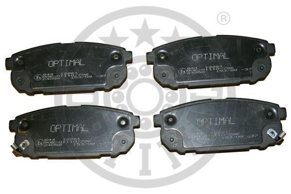 Kit de plaquettes de frein, frein à disque - OPTIMAL - 12261