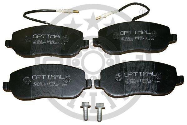 Kit de plaquettes de frein, frein à disque - OPTIMAL - 12262