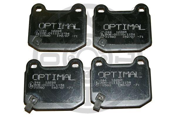 Kit de plaquettes de frein, frein à disque - OPTIMAL - 12265