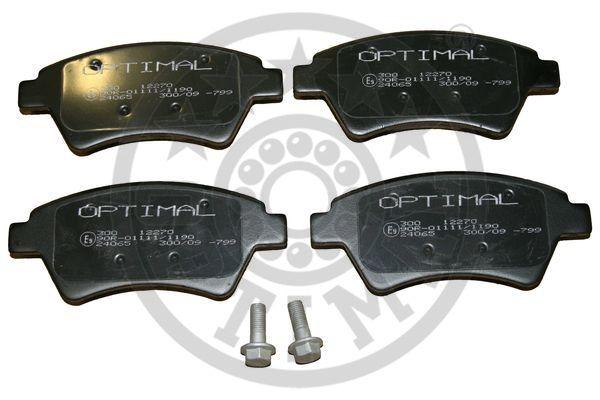 Kit de plaquettes de frein, frein à disque - OPTIMAL - 12270