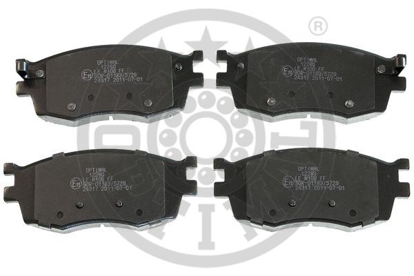 Kit de plaquettes de frein, frein à disque - OPTIMAL - 12280