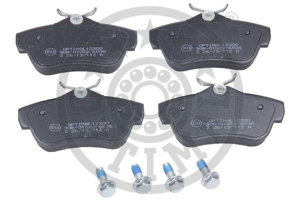 Kit de plaquettes de frein, frein à disque - OPTIMAL - 12300