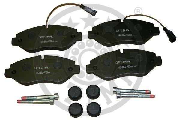 Kit de plaquettes de frein, frein à disque - OPTIMAL - 12302