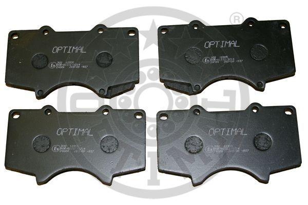Kit de plaquettes de frein, frein à disque - OPTIMAL - 12305