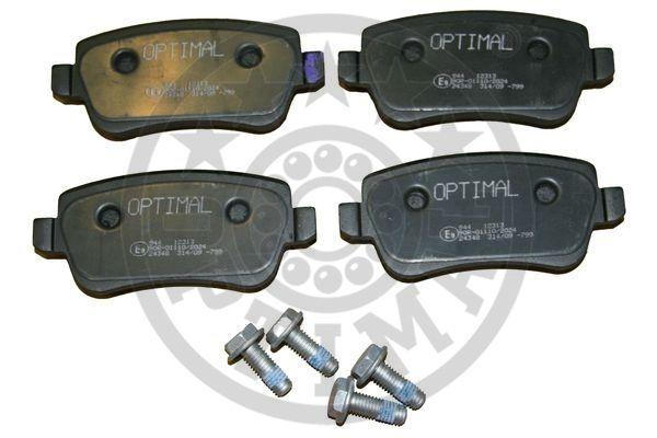 Kit de plaquettes de frein, frein à disque - OPTIMAL - 12313