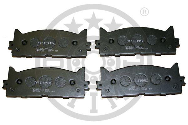 Kit de plaquettes de frein, frein à disque - OPTIMAL - 12314