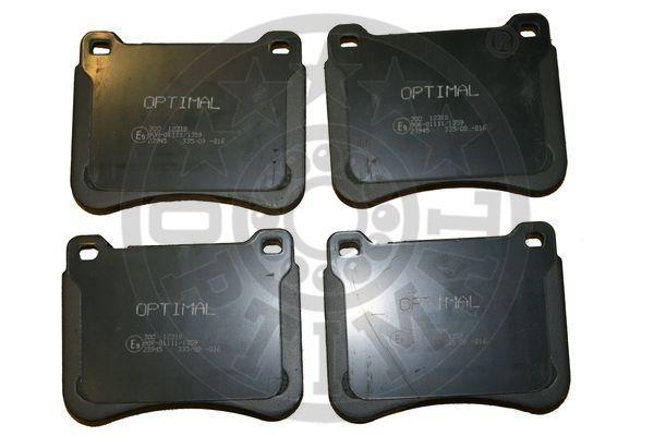 Kit de plaquettes de frein, frein à disque - OPTIMAL - 12318